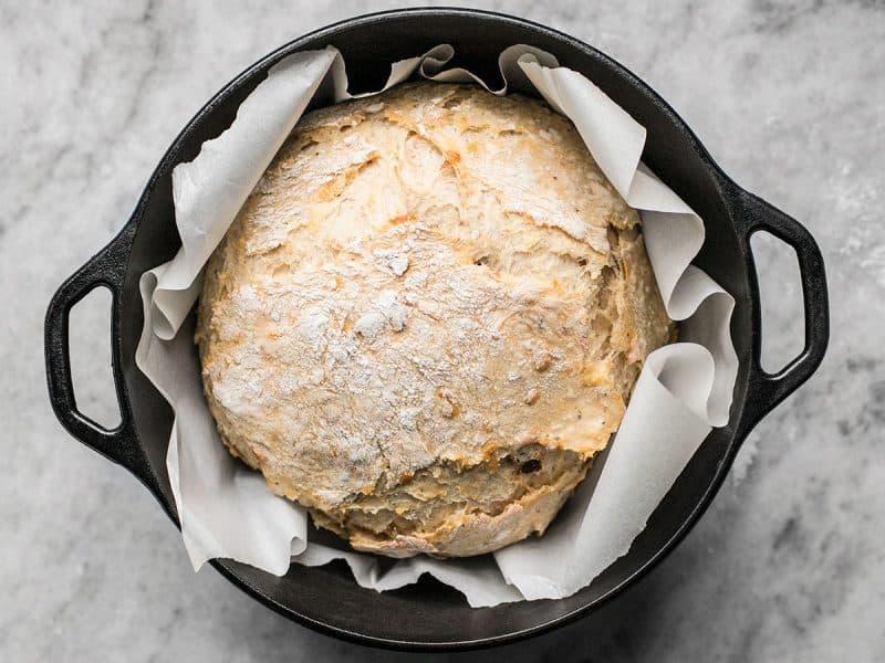Tomato Basil No Knead Bread 30 min