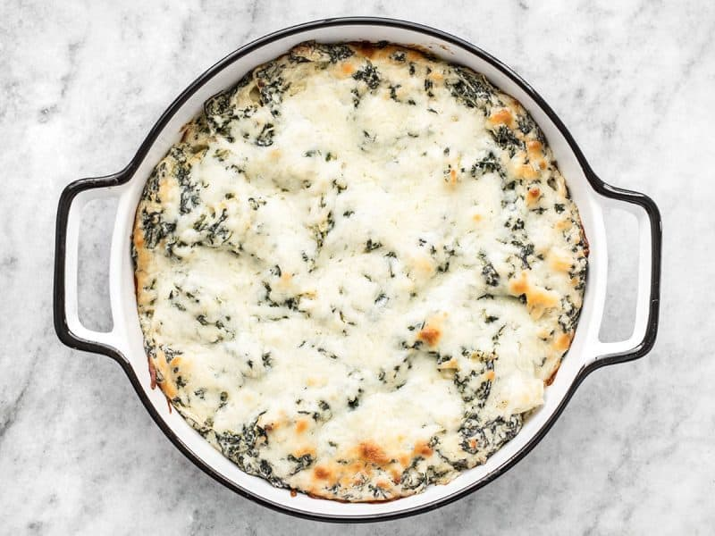 Baked Double Spinach Artichoke Dip