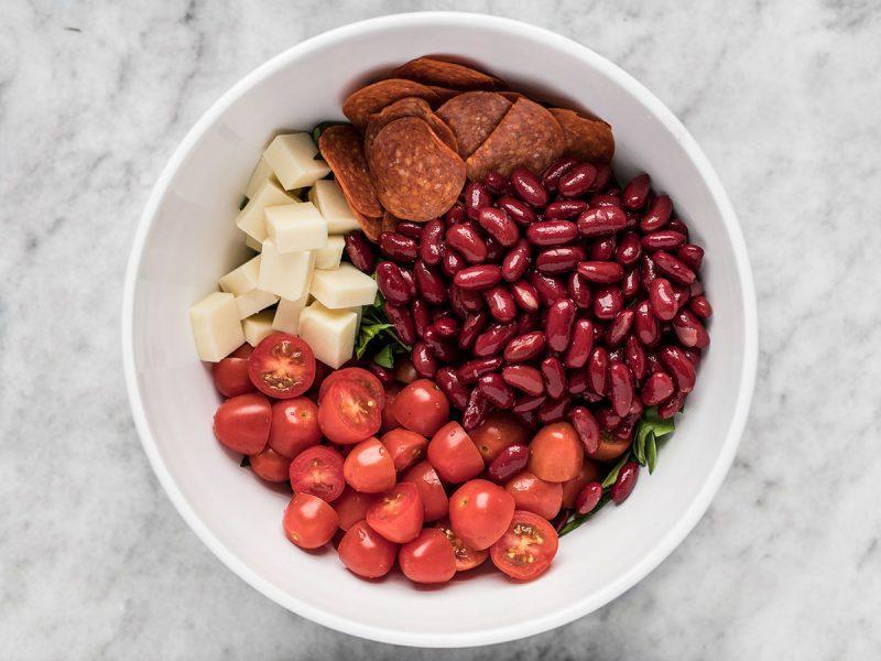 Beans Tomatoes Mozzarella Pepperoni