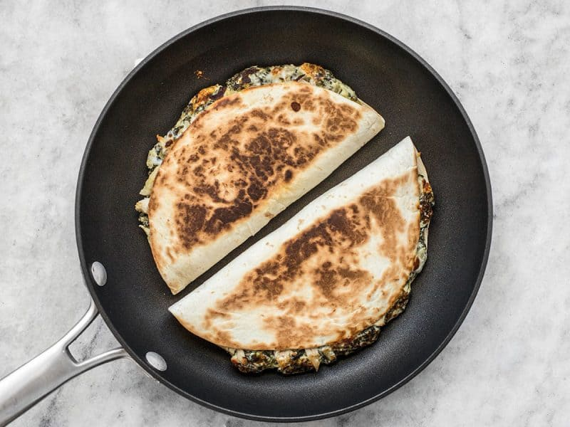 Cook Spinach Artichoke Quesadillas
