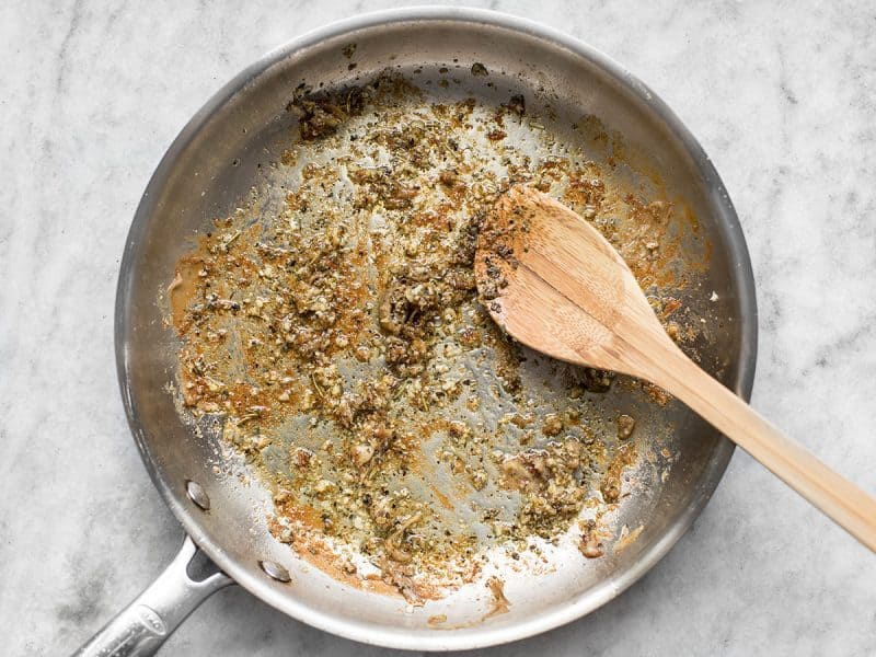 Sauté Garlic and Herbs