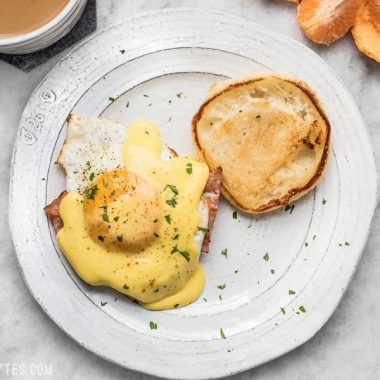 Almost Eggs Benedict is the easy and approachable version of the brunch classic, scaled back and scaled down to feed just to on a lazy weekend morning. BudgetBytes.com