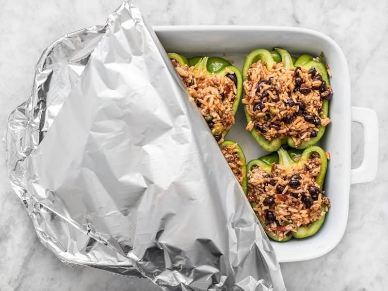 Covered Stuffed Bell Peppers