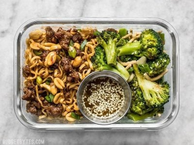 Pork & Peanut Dragon Noodle Meal Prep