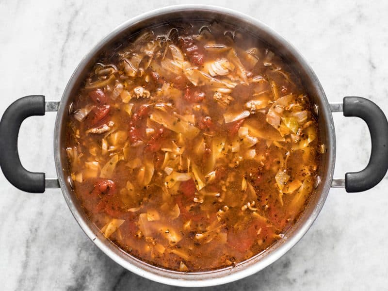 Simmered Beef and Cabbage Soup