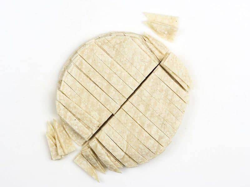 Cut Tortillas into Strips