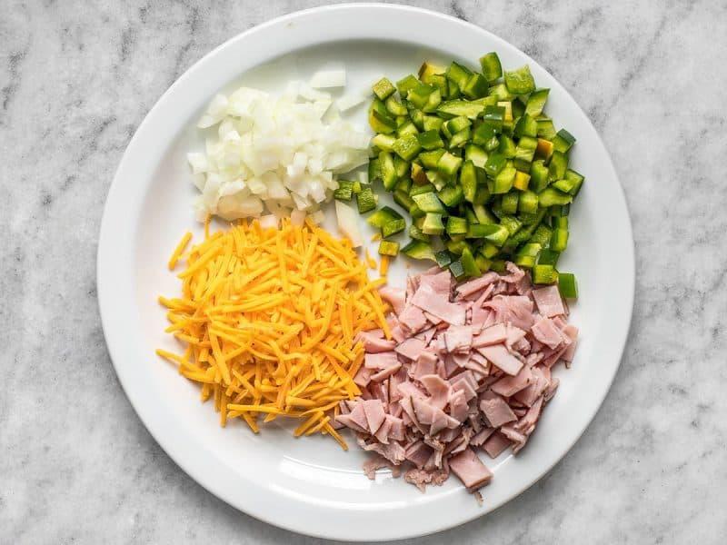 Microwave Breakfast Scramble ingredients