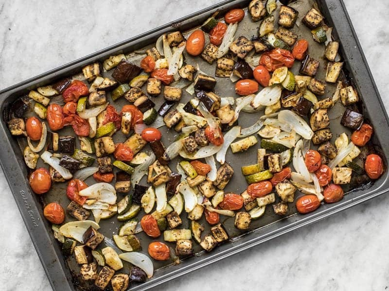 Roasted Ratatouille Vegetables