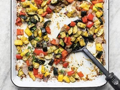 Roasted Summer Vegetables are the easiest side dish of the season and can be served as a simple side, or added to several other dishes to add color, flavor, texture, and nutrients. BudgetBytes.com