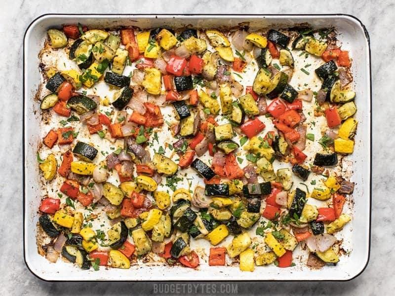 Roasted Summer Vegetables Finished