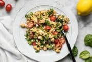 Spinach Chickpea and Quinoa Salad