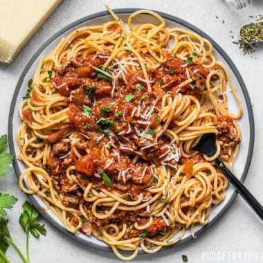 This rich and subtle pasta sauce is incredibly easy, which has earned it the title of The Best Weeknight Pasta Sauce in my house! BudgetBytes.com