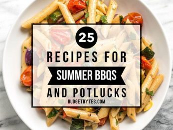 Need some fresh flavors to WOW your friends this summer? I've got you covered with these 25 Recipes for Summer BBQs and Potlucks. BudgetBytes.com