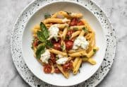Fresh Tomato Basil Pasta with Ricotta