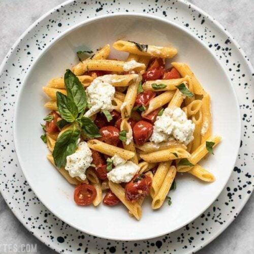 Fresh Tomato Basil Pasta With Ricotta Budget Bytes