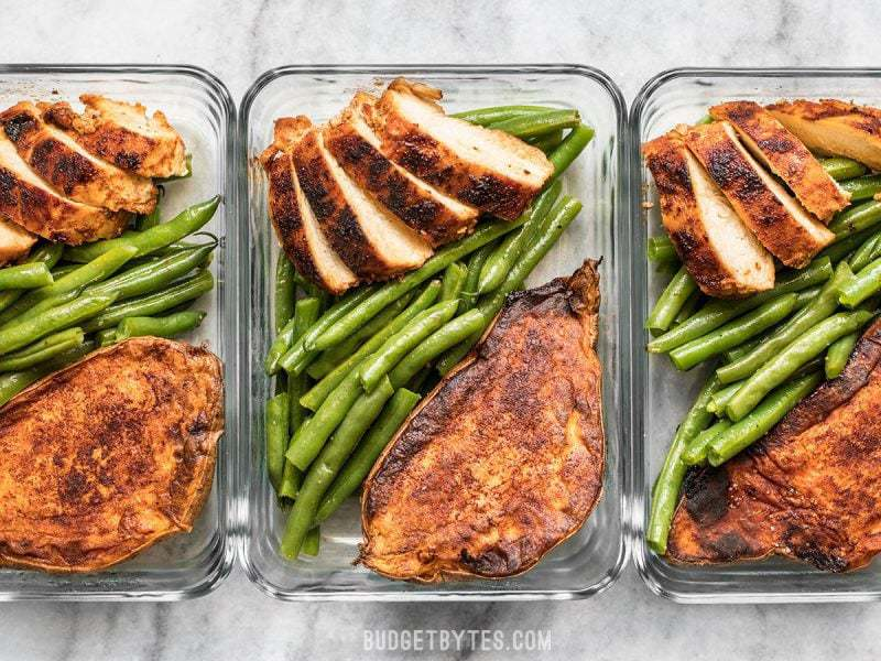 Smoky Chicken And Cinnamon Roasted Sweet Potato Meal Prep Budget Bytes