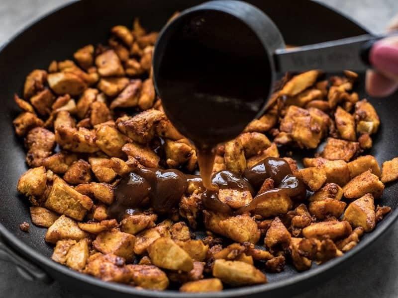 Add BBQ Sauce to Tofu