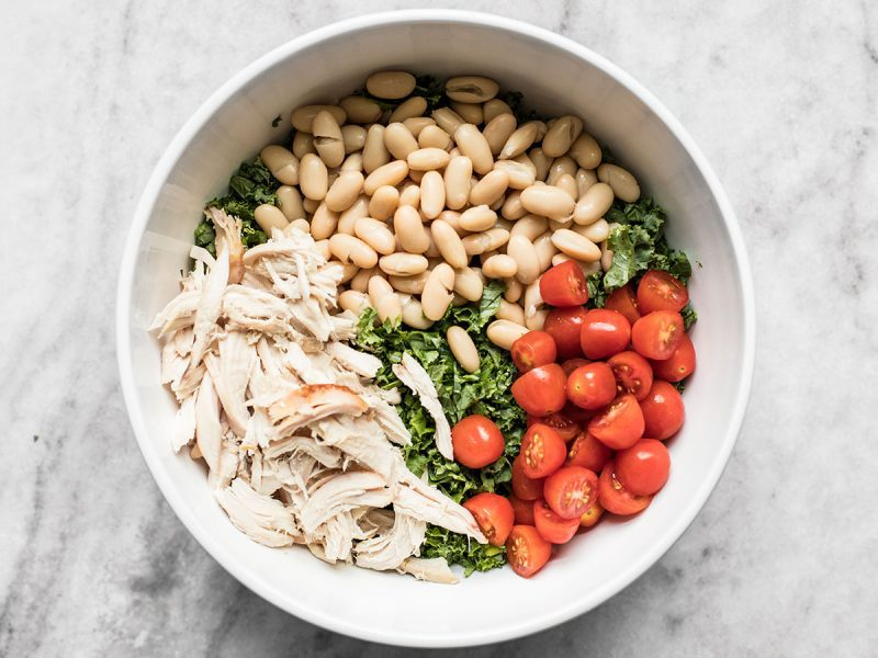 Kale White Beans Chicken and Tomatoes