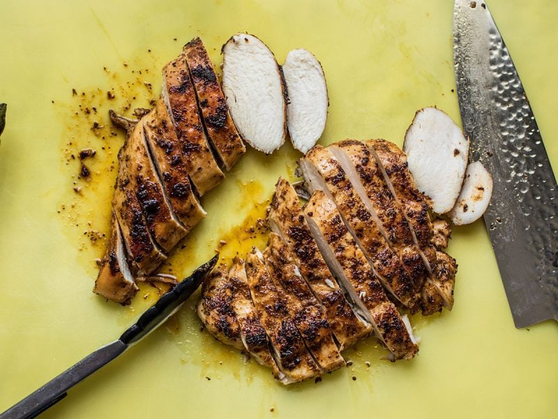 Slice Jerk Chicken Breast