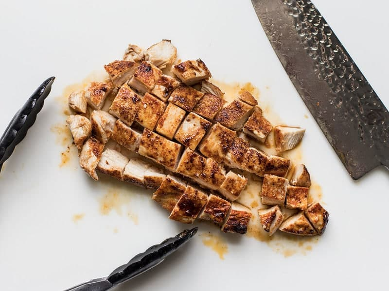Chop Cooked Chicken Breast