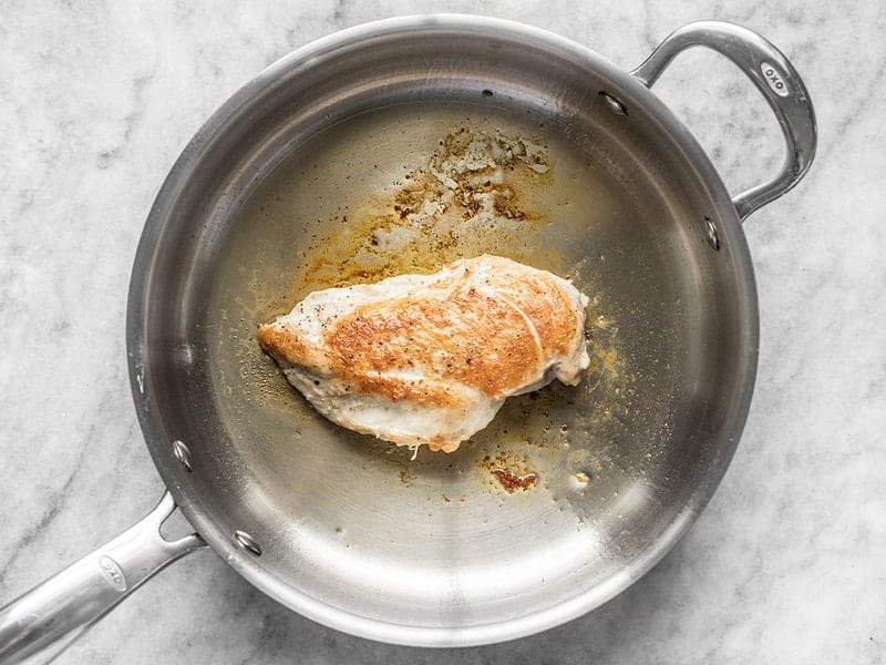 Chicken Breast Cooked in a Skillet