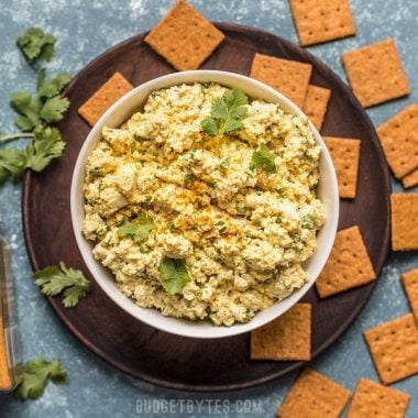 This cold, refreshing, and highly flavored Curried Tofu Salad is the perfect quick fix for summer or cold-pack lunch. Budgetbytes.com