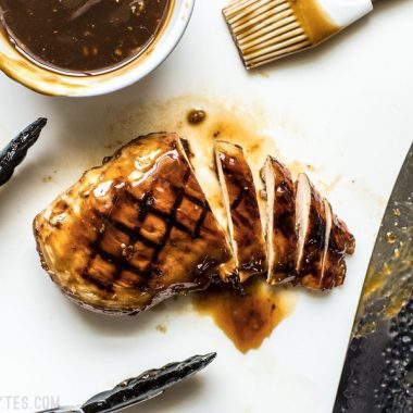 This Easy Homemade Teriyaki Sauce (or marinade) takes only a few minutes and five simple ingredients that can be kept on hand at all times. Perfect for last minute weeknight dinners! Budgetbytes.com