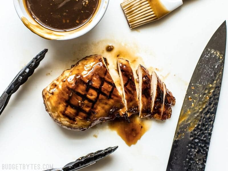 Sliced Chicken Breast with Teriyaki Sauce