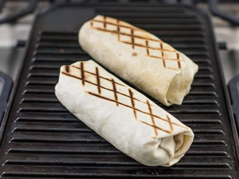Grill Bean and Cheese Burritos