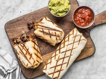 Perfect for stashing in the freezer, these Make Ahead Bean and Cheese Burritos will save you on busy weeknights!