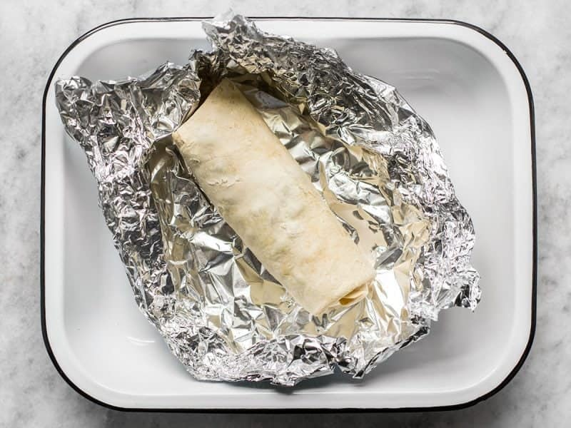 Reheat Burrito in Oven