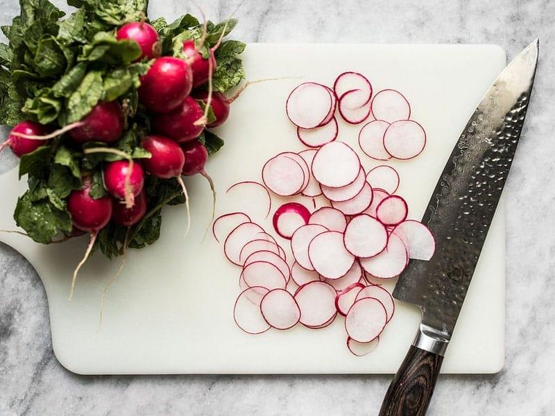 Slice Radishes