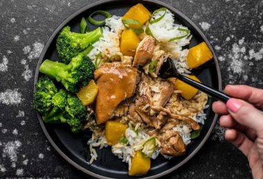 With just a few ingredients, dinner doesn't get easier (or tastier) than this Slow Cooker Pineapple Teriyaki Chicken. Skip the take out tonight! Budgetbytes.com