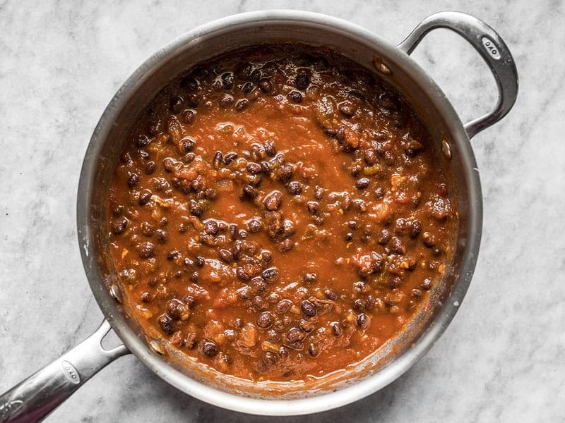 Add Black Beans and Heat Through