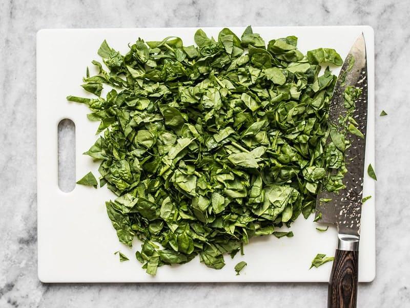 Chop Spinach