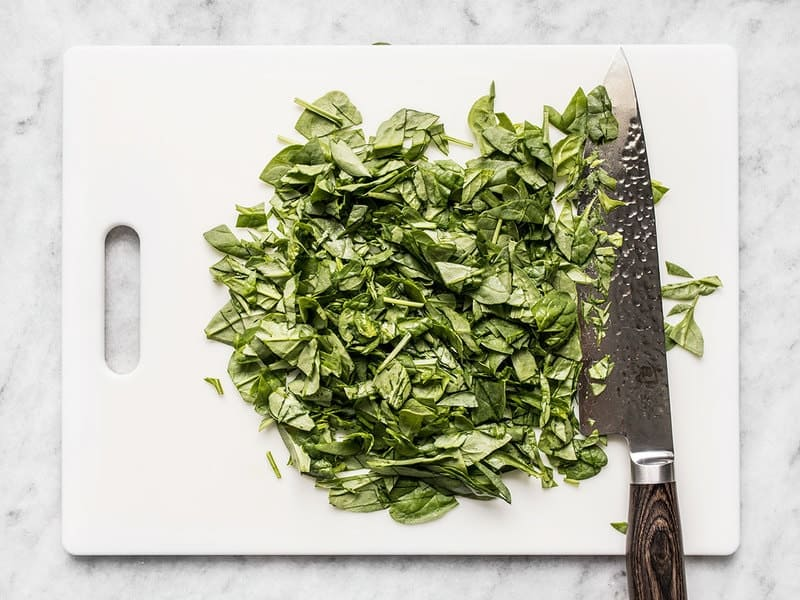 Chopped Spinach for Italian Orzo Salad