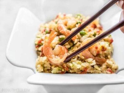 Rice Cooker Teriyaki Shrimp and Rice