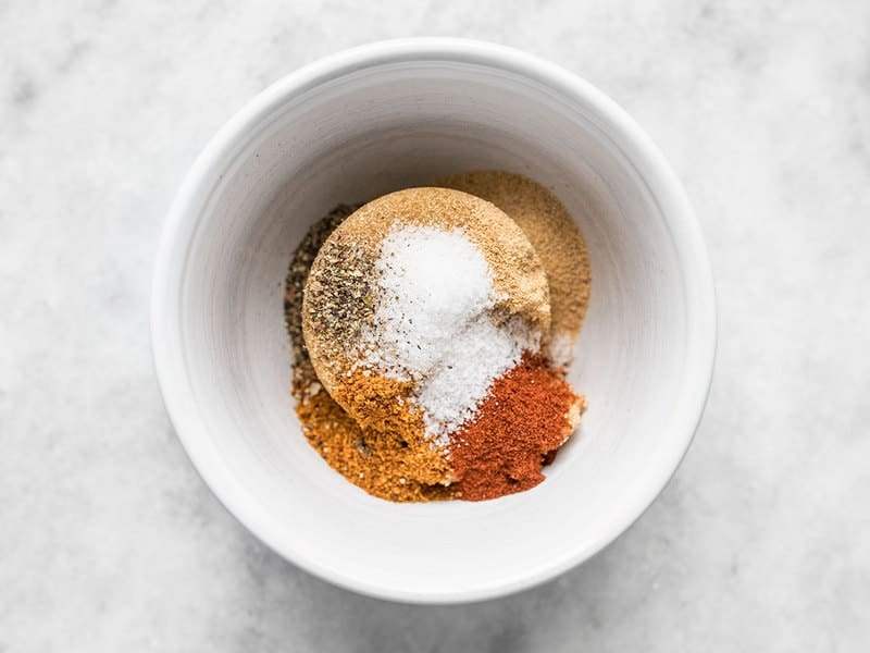 Sweet and Spicy Glaze Seasoning ingredients in a bowl