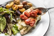 Sheet Pan Pesto Chicken Dinner