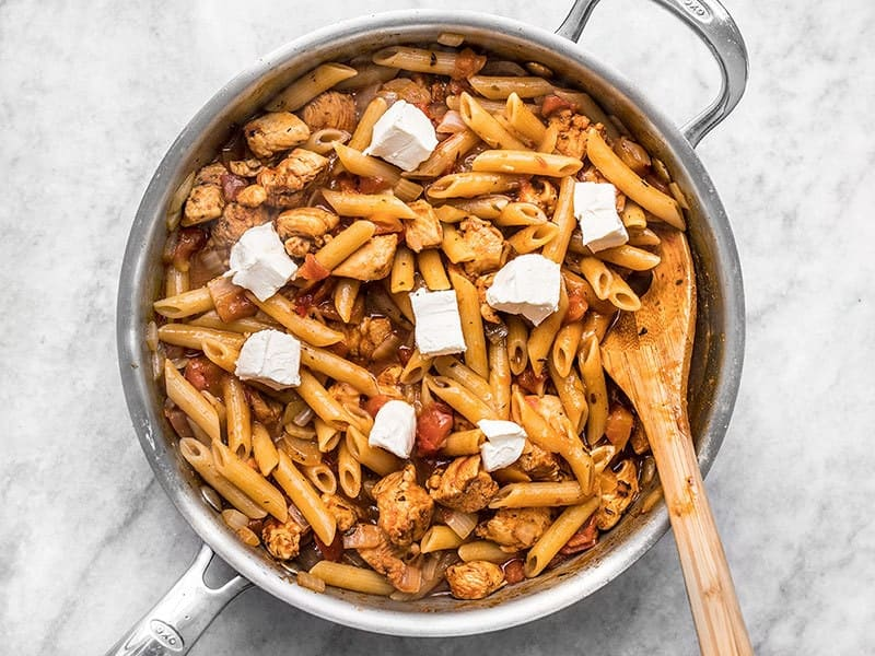Add Cream Cheese to Cajun Chicken Pasta