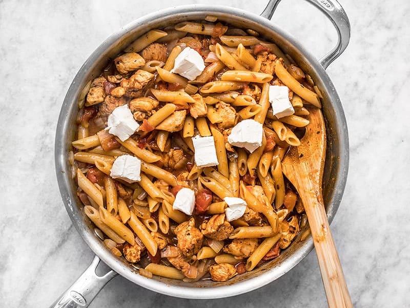 Add Cream Cheese to Cajun Chicken Pasta