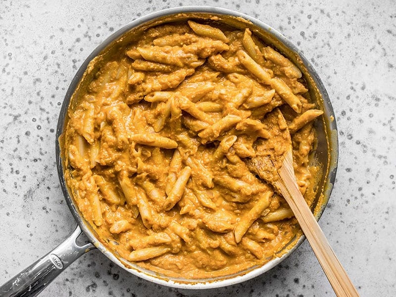 Finished Chipotle Pumpkin Pasta