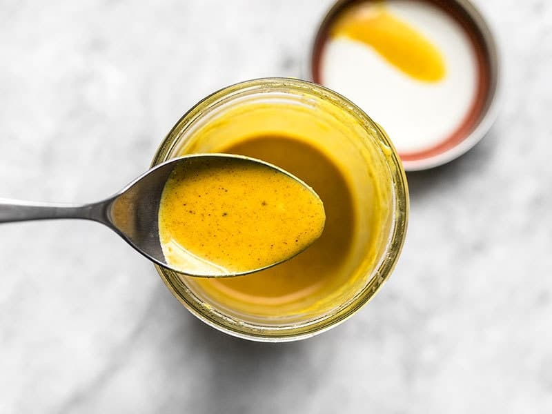 Lemon Turmeric Dressing Spoon