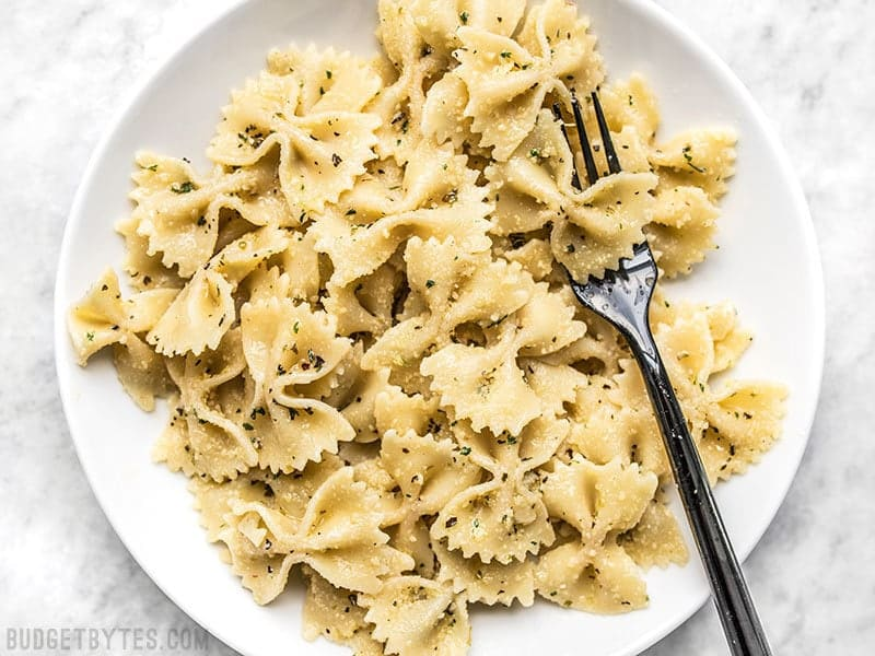 Garlic Herb Seasoning Pasta with Butter and Parmesan