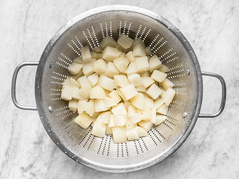 Rinse Boiled Potatoes