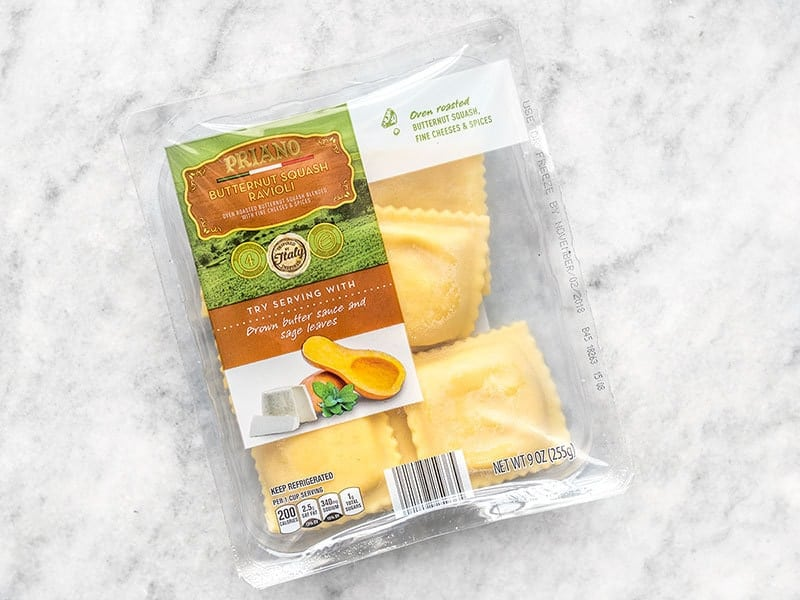 A package of squash ravioli
