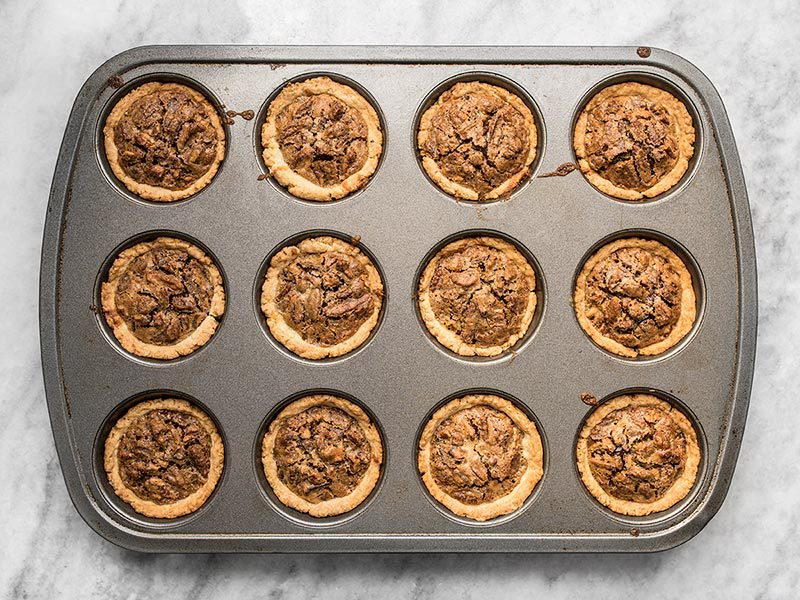Baked Mini Dark Chocolate Pecan Pies