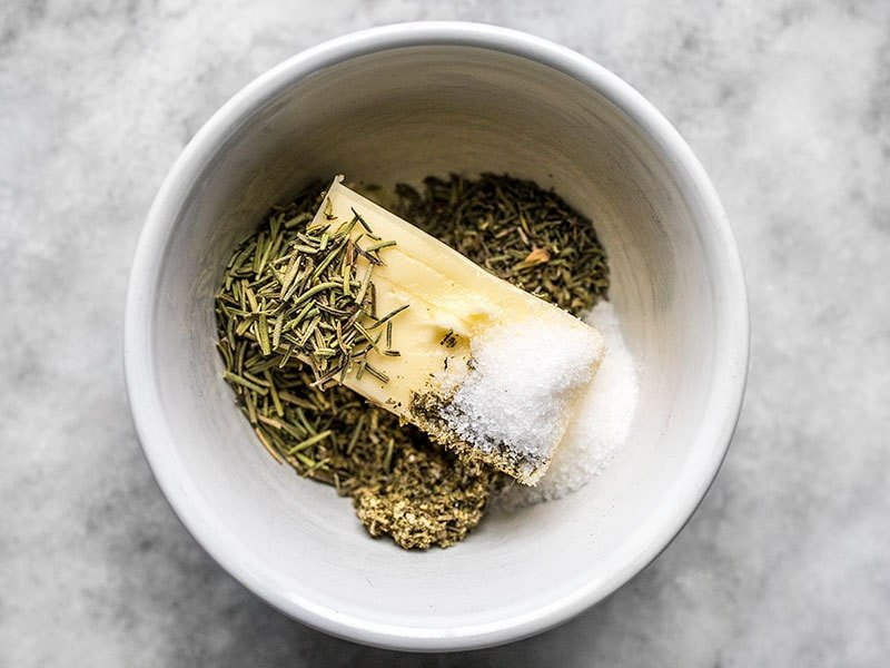 Butter and Herbs for Cider Roasted Turkey Breast