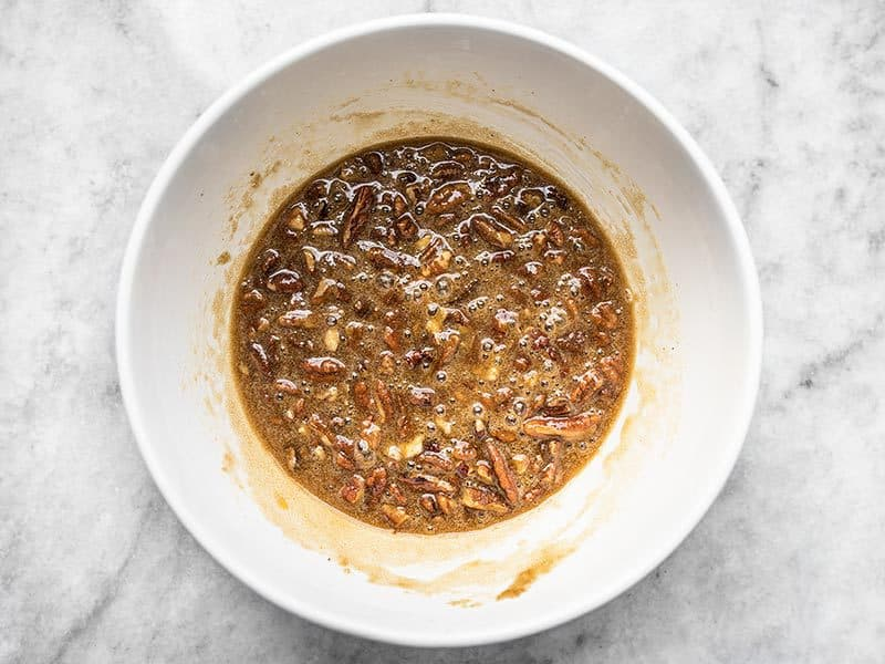 Pecan Pie Filling Mixed