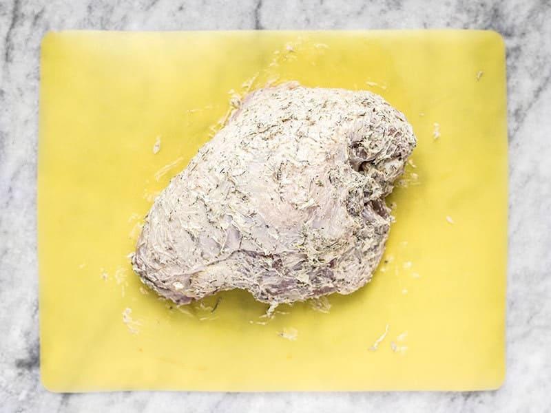 Split Turkey Breast Coated in Herb Butter